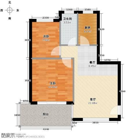 山海湾温泉家园79.00㎡户型图