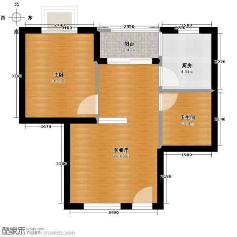 山海湾温泉家园48.00㎡户型图