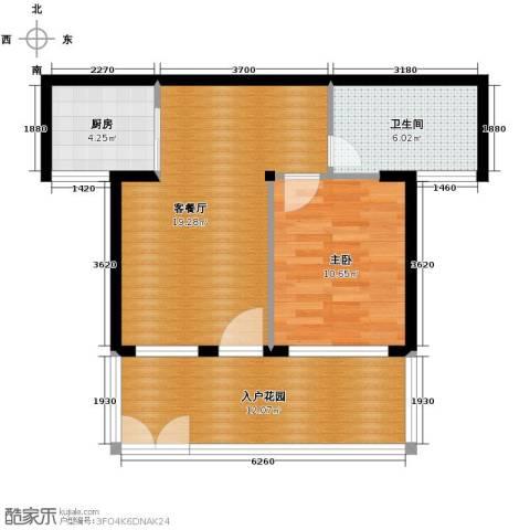 鸿坤・理想海岸1室2厅1卫0厨54.00㎡户型图