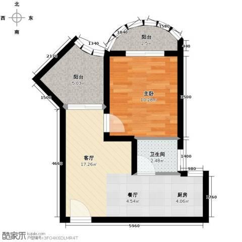 九龙湾55.00㎡户型图