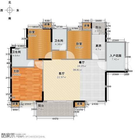 康怡花园1室0厅2卫1厨125.00㎡户型图