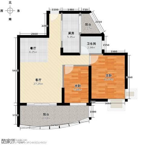 九龙湾98.00㎡户型图