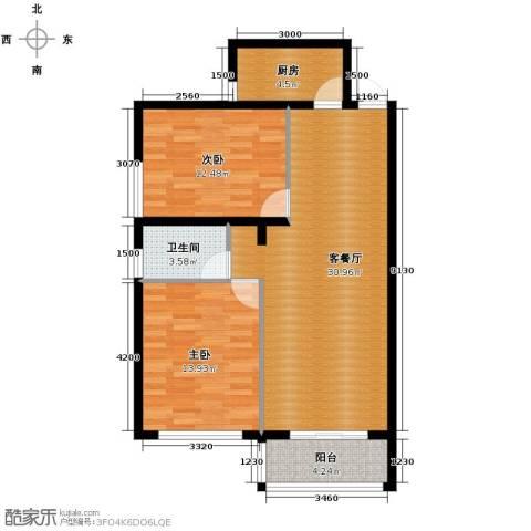 青春水岸2室2厅1卫0厨90.00㎡户型图