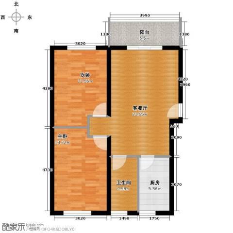 青春水岸2室2厅1卫0厨85.00㎡户型图