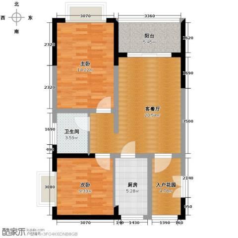 东方山水绿洲温泉家园92.00㎡户型图