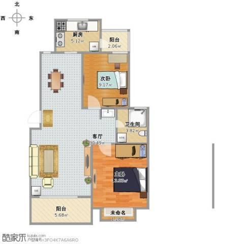 仁和英伦皇家花园2室1厅1卫1厨96.00㎡户型图