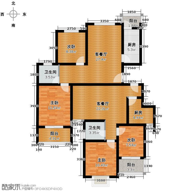 武夷绿洲68.25㎡--64套户型10室