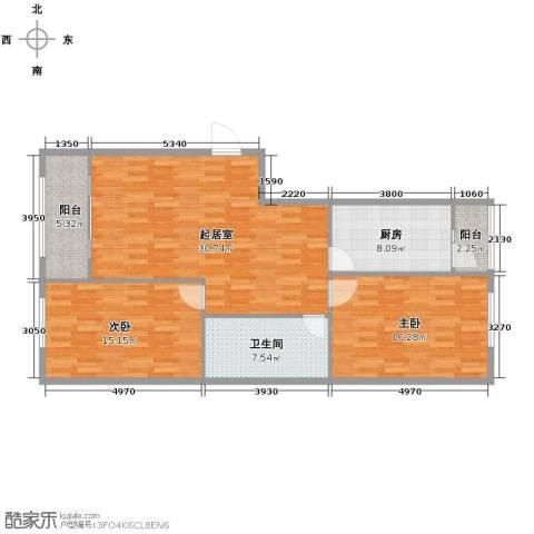 中山国际2室0厅1卫1厨85.37㎡户型图