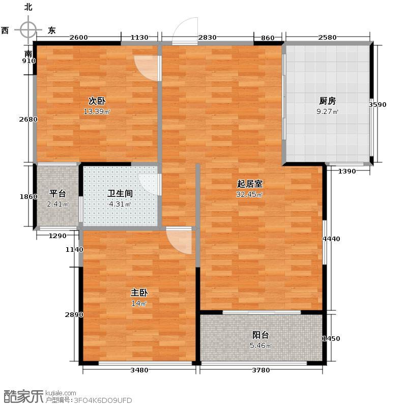江宁1号102.79㎡C2型户型10室