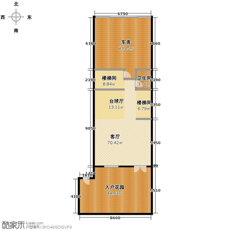 融侨观邸410.00㎡A1负一层户型4室3厅5卫
