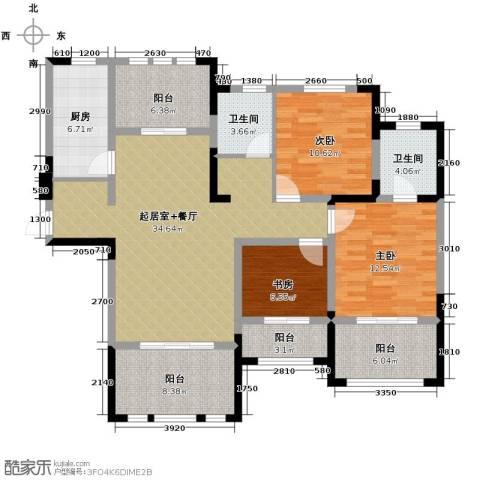 阳光帝景3室2厅2卫0厨126.00㎡户型图