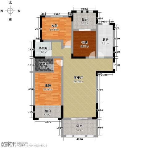 阳光帝景3室2厅1卫0厨129.00㎡户型图