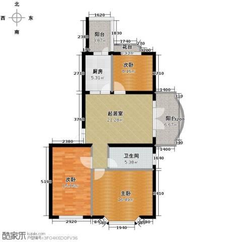 润园翡翠城119.00㎡户型图