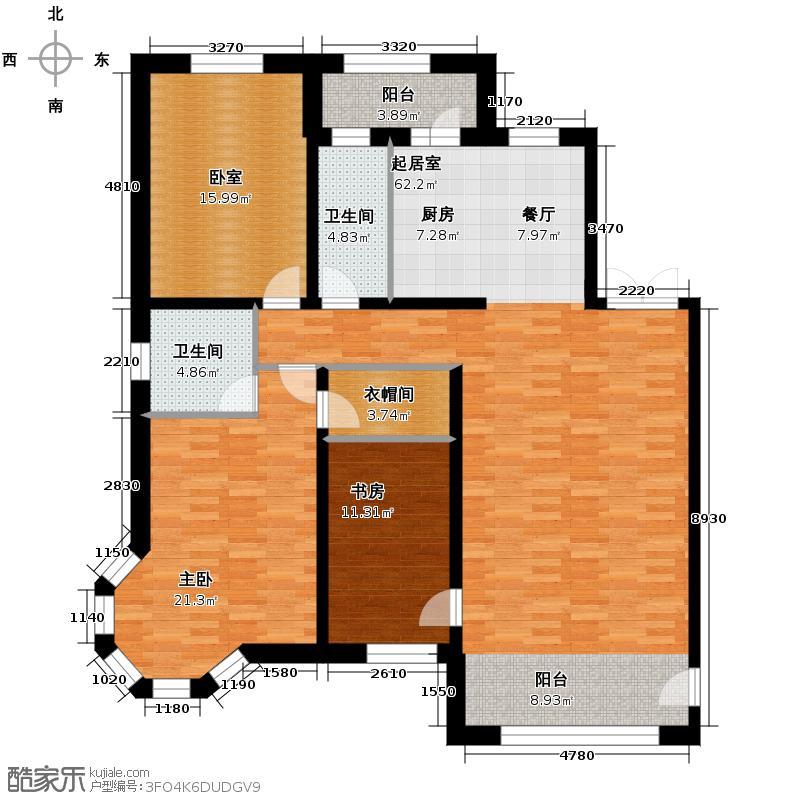 盛和世纪146.62㎡高层R户型3室2厅2卫