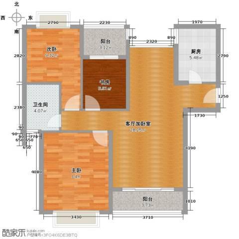 万裕龙庭水岸102.00㎡户型图