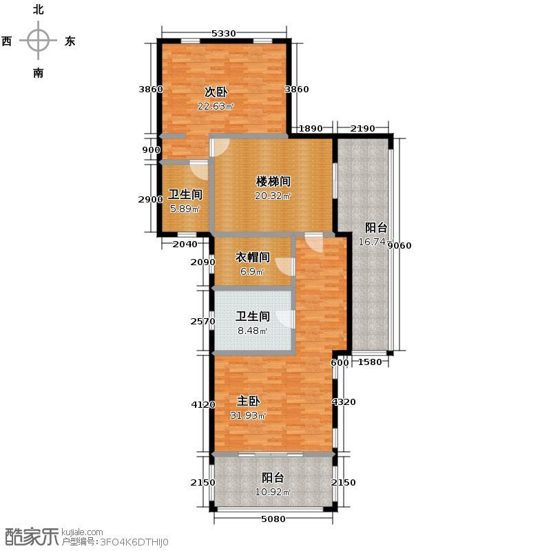 阳明山庄138.12㎡新品-A1-N-01三层户型10室