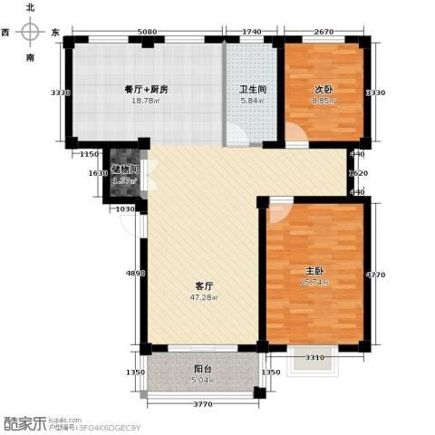 伯爵山庄2室1厅1卫0厨90.00㎡户型图