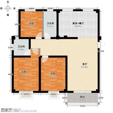 伯爵山庄3室1厅2卫0厨108.00㎡户型图