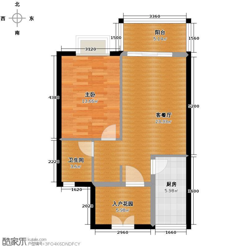 东方山水绿洲温泉家园65.81㎡A户型10室