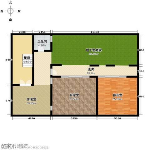 亚龙湾公主郡三期1室0厅1卫0厨161.29㎡户型图