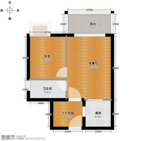 东方海岸1室1厅1卫0厨52.00㎡户型图