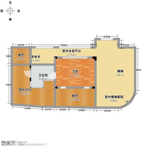 龙泉谷・三亚的山2室2厅1卫0厨92.06㎡户型图