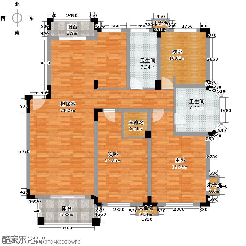 左邻右里146.79㎡户型3室2厅2卫