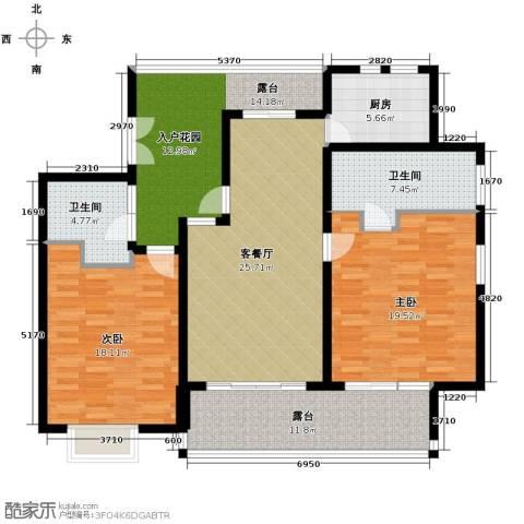 亚龙湾公主郡三期2室2厅1卫0厨122.00㎡户型图