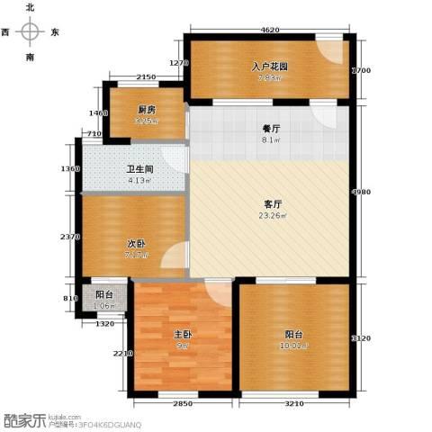 君和君泰3室2厅2卫0厨112.00㎡户型图