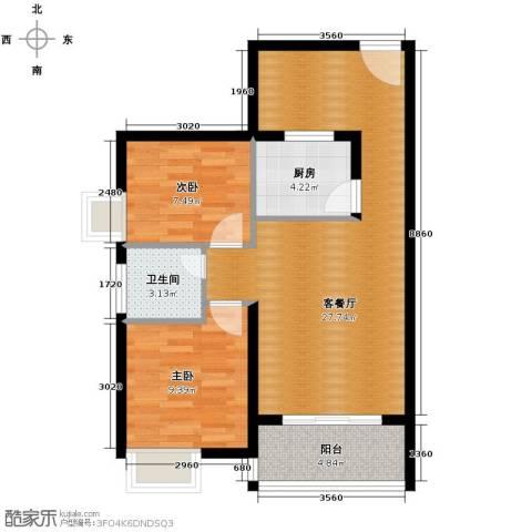 东方海岸2室2厅1卫0厨73.00㎡户型图