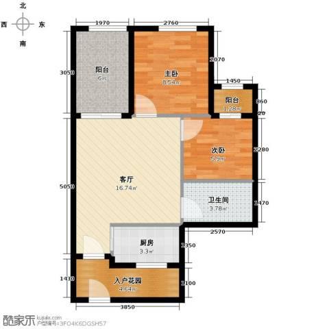 君和君泰2室1厅1卫1厨61.00㎡户型图