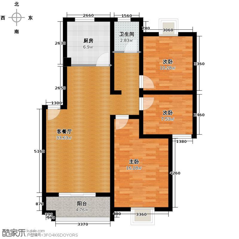 武夷绿洲94.35㎡C1户型10室