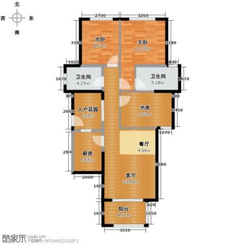 君和君泰3室2厅2卫0厨110.00㎡户型图
