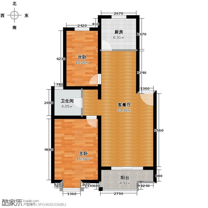 武夷绿洲51.00㎡户型10室