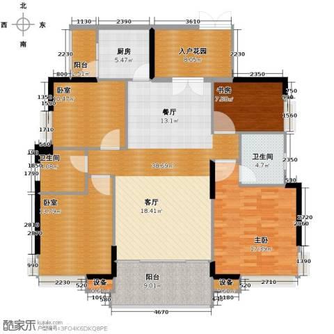 康怡花园2室0厅2卫1厨138.00㎡户型图