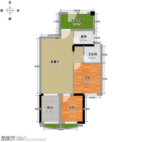 君和君泰2室1厅2卫0厨68.05㎡户型图