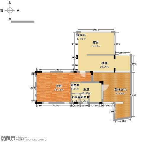 龙泉谷・三亚的山2室2厅2卫0厨88.72㎡户型图