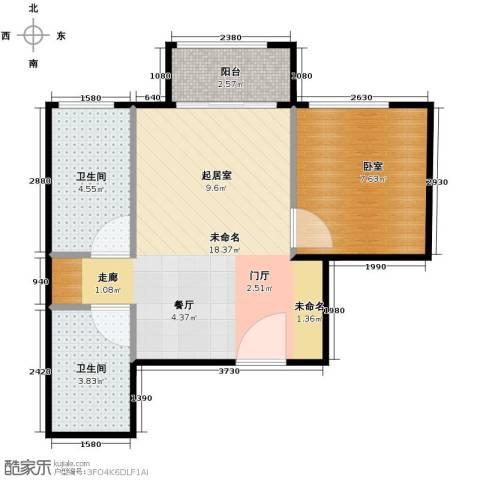 郁金台1室1厅1卫0厨36.95㎡户型图