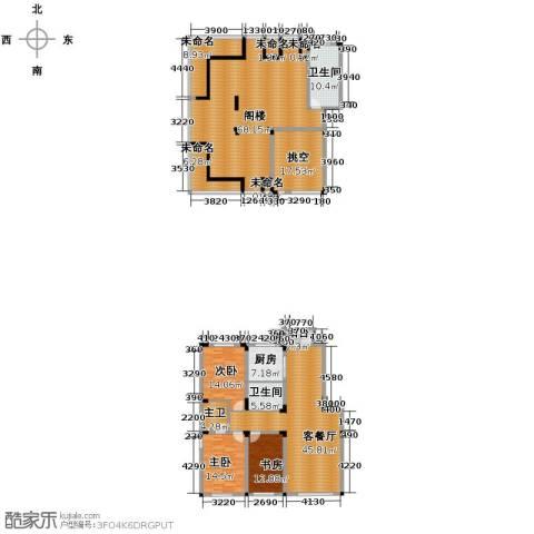 金越逸墅蓝湾3室2厅2卫0厨219.34㎡户型图