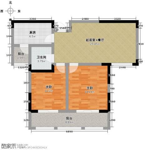 阳光帝景2室2厅1卫0厨94.00㎡户型图