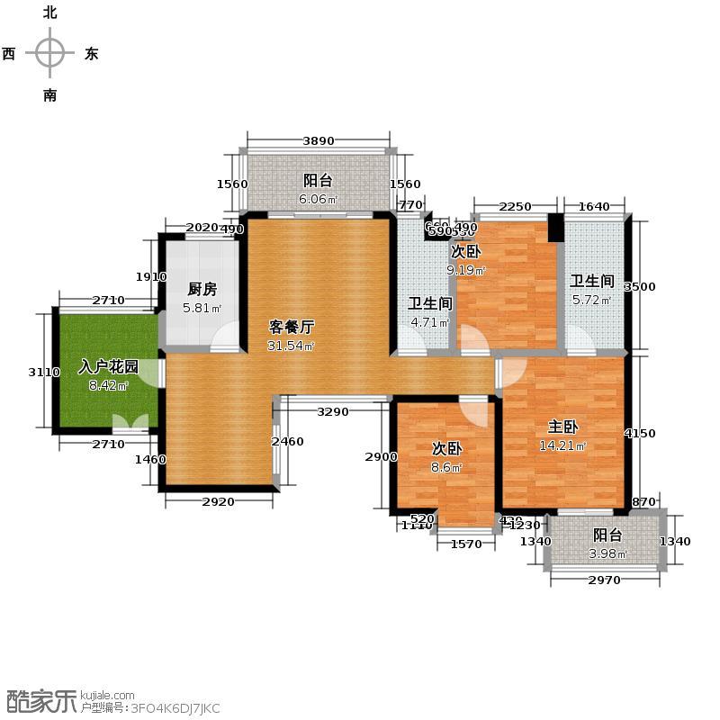 航天云海台111.70㎡户型10室