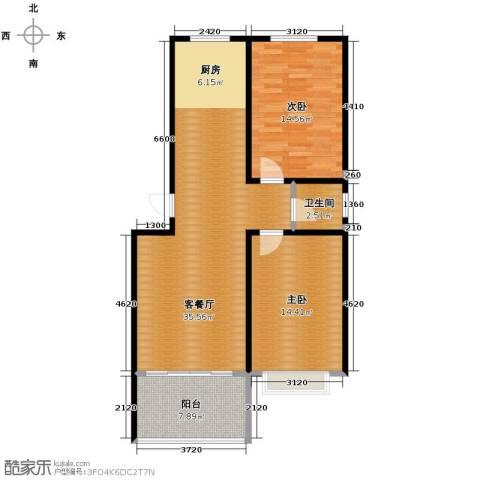 树林新村2室1厅1卫0厨103.00㎡户型图