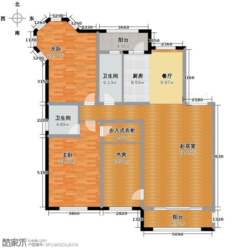 盛和世纪162.71㎡高层F户型3室2厅2卫