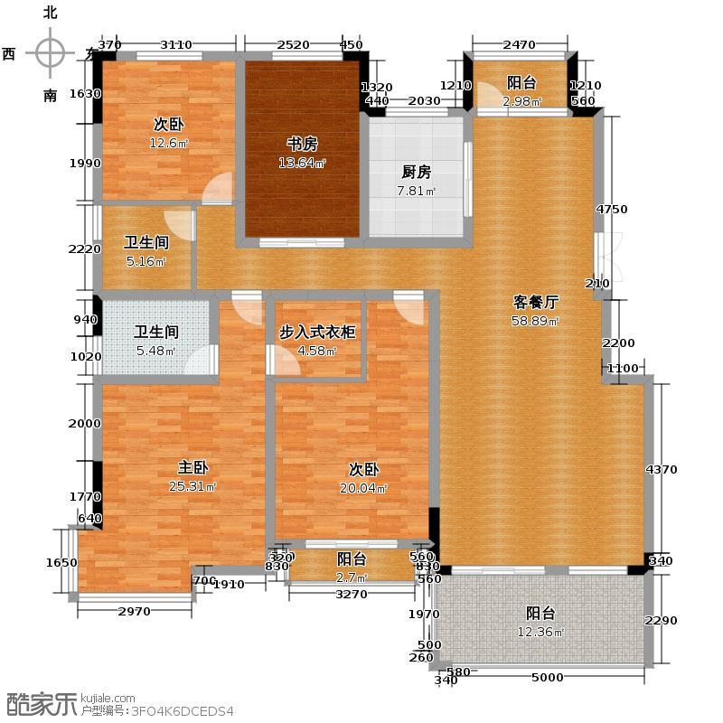 国信来凤街1号186.00㎡平层叠墅C2户型4室2厅2卫