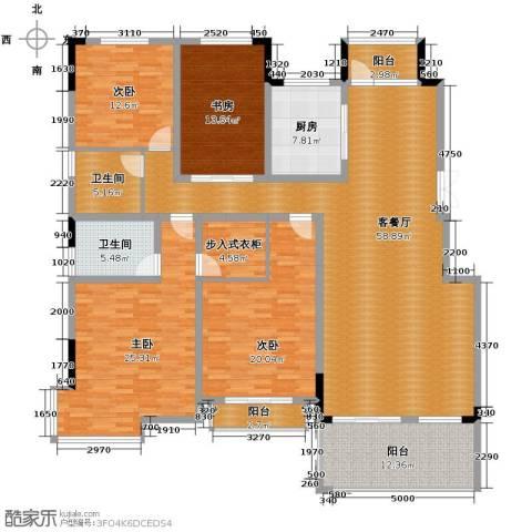 来凤街4室2厅2卫0厨186.00㎡户型图