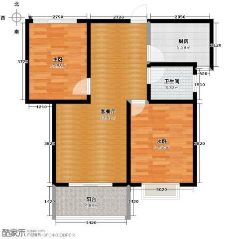 江南鸿郡2室2厅1卫0厨82.00㎡户型图
