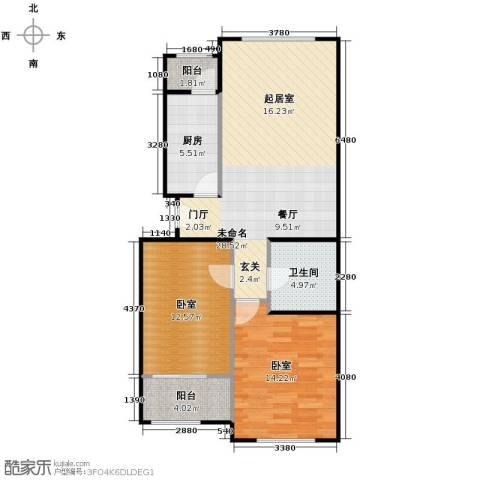 郁金台2室1厅1卫0厨71.62㎡户型图