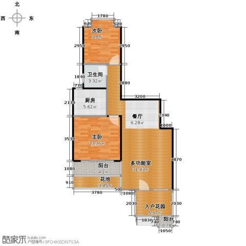 鸿坤・理想海岸2室2厅1卫0厨106.00㎡户型图