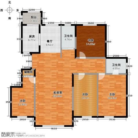 新星宇和源4室2厅2卫0厨168.00㎡户型图