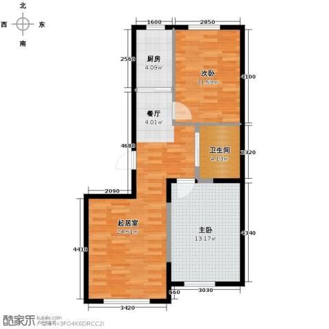 新星宇和源2室2厅1卫0厨86.00㎡户型图